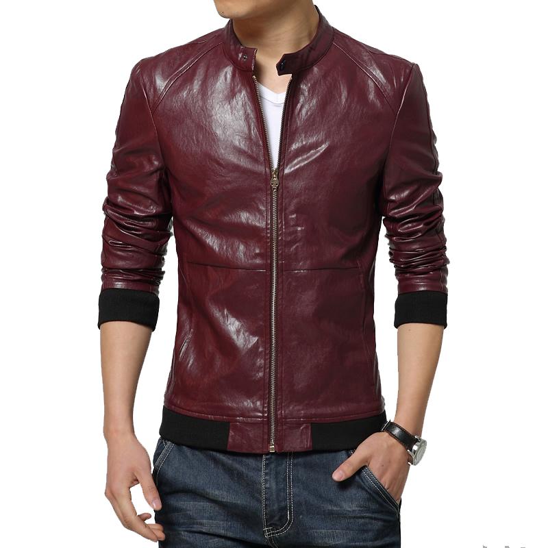 achetez en gros rouge veste en cuir pour hommes en ligne. Black Bedroom Furniture Sets. Home Design Ideas