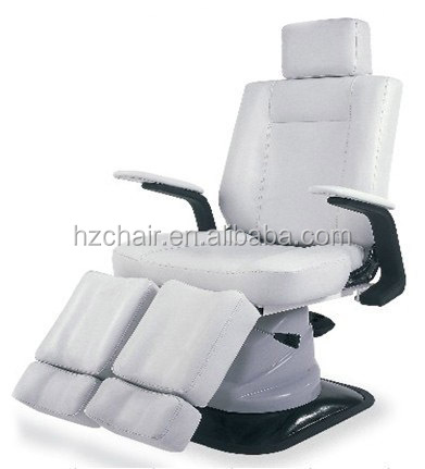 reclining spa salon pedicure chair with hydraulic pump in the base
