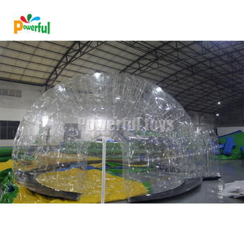 inflatable transparent dome inflatable clear tent inflatable dome for large outdoor christmas decorations