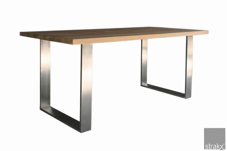 Tavolo in teak in acciaio inox gamba buy tavolo da pranzo in