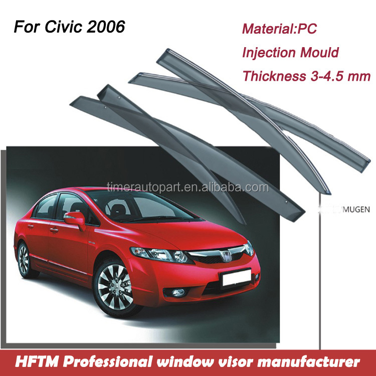 For Civic 2006 auto parts wholesale 900 car models Available best window visor