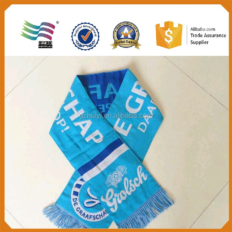 Acrylic Jacquard Football Fan Scarf Wholesale
