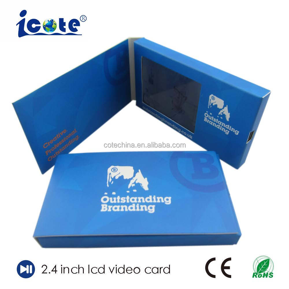 Hot Selling 2.4 Inch Video In Print Technology For Business
