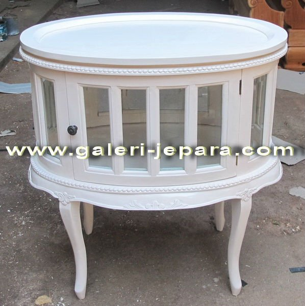 Tea Stand - White Painted Antique Reproduction Furniture - Antique ...