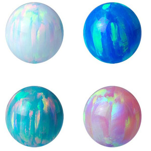 Colors custom 2-12mm Synthetic Loose Opal Beads Pendant Necklace gemstone Ball charm stone price for Jewelry making