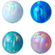 Colors custom 3-8mm Synthetic Loose Opal Beads Pendant Necklace gemstone Ball charm stone price for Jewelry making