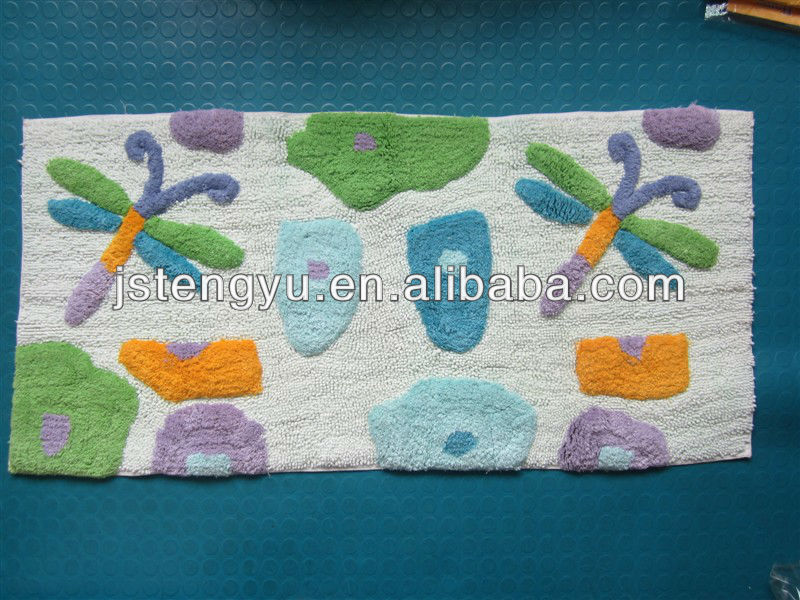 100% Cotton Long Pile hotel bathroom Bath Rug