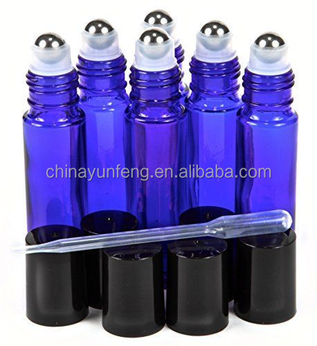ISO 9001:2008 Amazon Hot Sale Supply Made in China Wholesale Leak Proof Blue 10ml Glass Roll on Bottle for Essential oil/Perfume