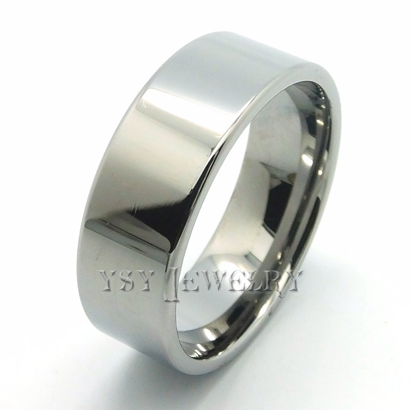 Wholesale Price Tungsten rings Plating Ring silver heart Wedding Ring cheap wholesale fashion jewelry mens rose gold jewelry