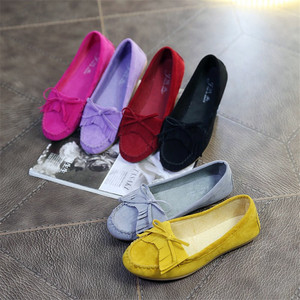 Hot sale new fashion women bowknot tassel flat shoes lady casual shoes