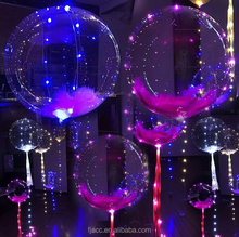 bright light led helium balloons colorful transparent round bubble christmas decoration party light strings bobo lighted balloon