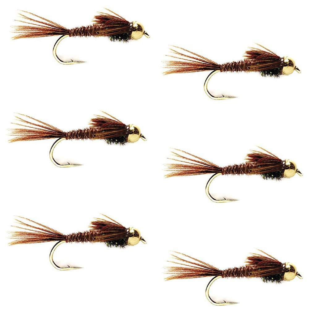 The Fly Fishing Place Bead Head Gold Ribbed Hares Ear Nymph Fly ...