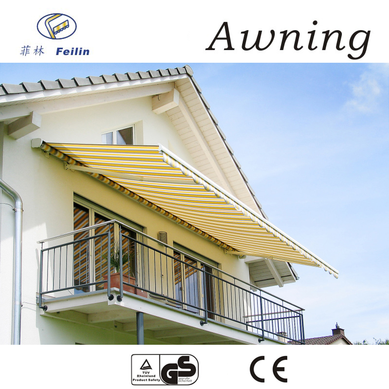 Aluminum motorized canvas awning beutiful manual retractable awnings