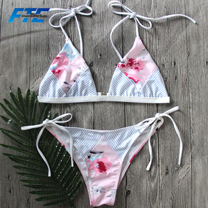 Custom Design Bikini Manufacturers Recycled Fabric European Swimwear