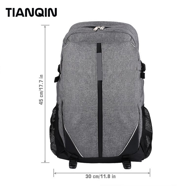 17 Inch High Quality Water Resistant Laptop Backpack with USB Charging Port
