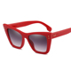 Cat Eye Sunglasses Ladies Sexy Red Sun Glasses Women Personality Decoration Eyewear Female Brand Designer rivet sunglasses