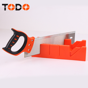 PLASTIC MITRE BOX WITH SAW BLADE