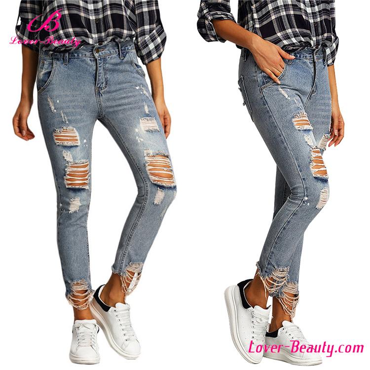 Venta al por mayor jeans dama rotos compre online los for Agujeros femeninos