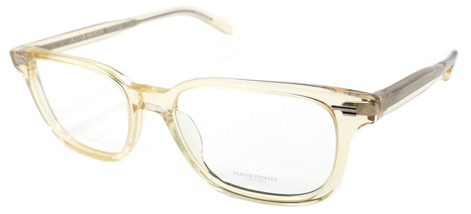 Oliver Peoples Rx Eyeglasses Frames Soriano 5280U 1094 56x19 Light Clear Yellow