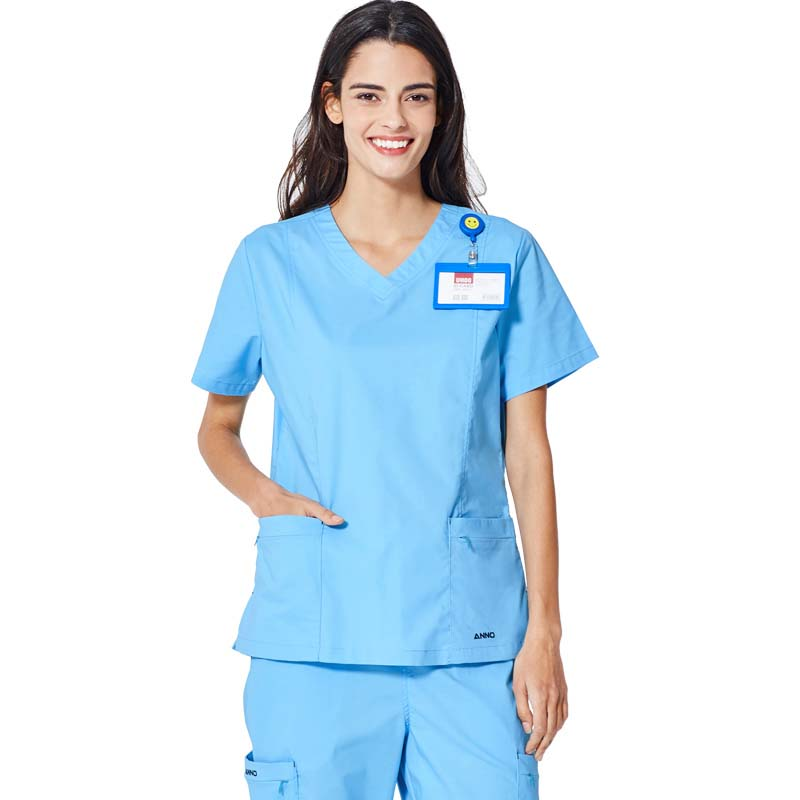 Cotton Polyester Spandex 55/42/3 Twill Plain Fabric Uniform Scrub for Hospital Spa Salon Clinic