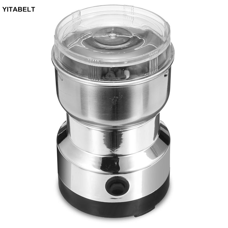 Electric Stainless Steel Coffee Mill Household Coffee Bean Grinder Home Grinding Machine