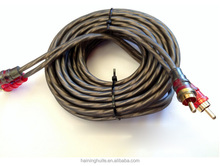 twisted RCA shielded flexible RCA audio cable