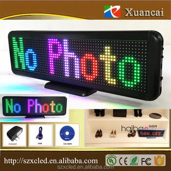Full Color P4 75-16x64rgb(33x10x2cm) Bluetooth App+usb Serial Port Meeting  Room Desk Reception Led Name Display - Buy Multi Color Led Display,Meeting