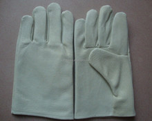 leather glove with light brown pig skin