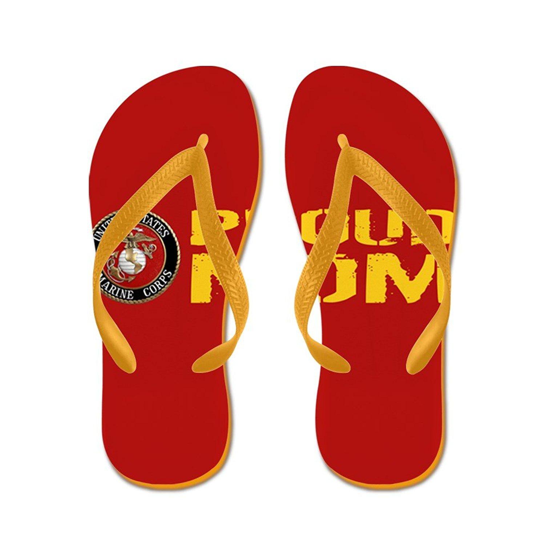 e698ca5835f4 Get Quotations · CafePress USMC  Proud Mom (Red   Gold) - Flip Flops