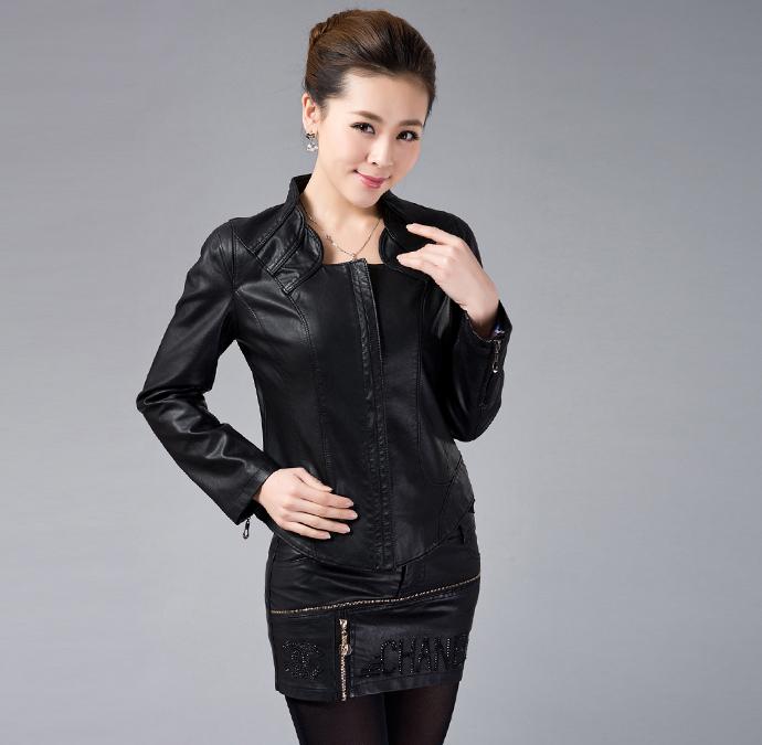 Новые женские кожаные короткие куртки прохладный мода 2015 прибытие тонкий Большой размер пальто дизайн зима высокое качество Clothings горячая распродажа