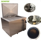 28khz Engine Block Ultrasonic Cleaner With Filtration For Heavy Duty Oil Removing