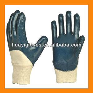Cotton Lined Heavy Nitrile Gloves HYJ42
