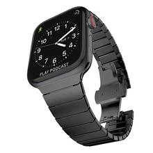 Link Bracelet Watch Strap For Apple Watch Band 38mm 42mm stainless steel watch band