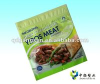 Newyork meat snack food full printing colour zipper bag bag for good health for the year 2012