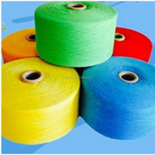 Ne 4s yarn Recycled cotton polyester dyed yarn for bedspread