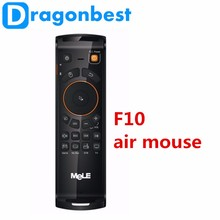 Fly Air Mouse Draadloze Qwerty-toetsenbord MeLE <span class=keywords><strong>F10</strong></span> Deluxe 2.4 GHz Gyro IR Leren voor Android TV Box/Set Top Box/HTP
