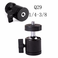 360 Degree Swivel Mini Ball Head Ball head 1/4'' & 3/8'' Screw for Camera Tripod Monopod Studio