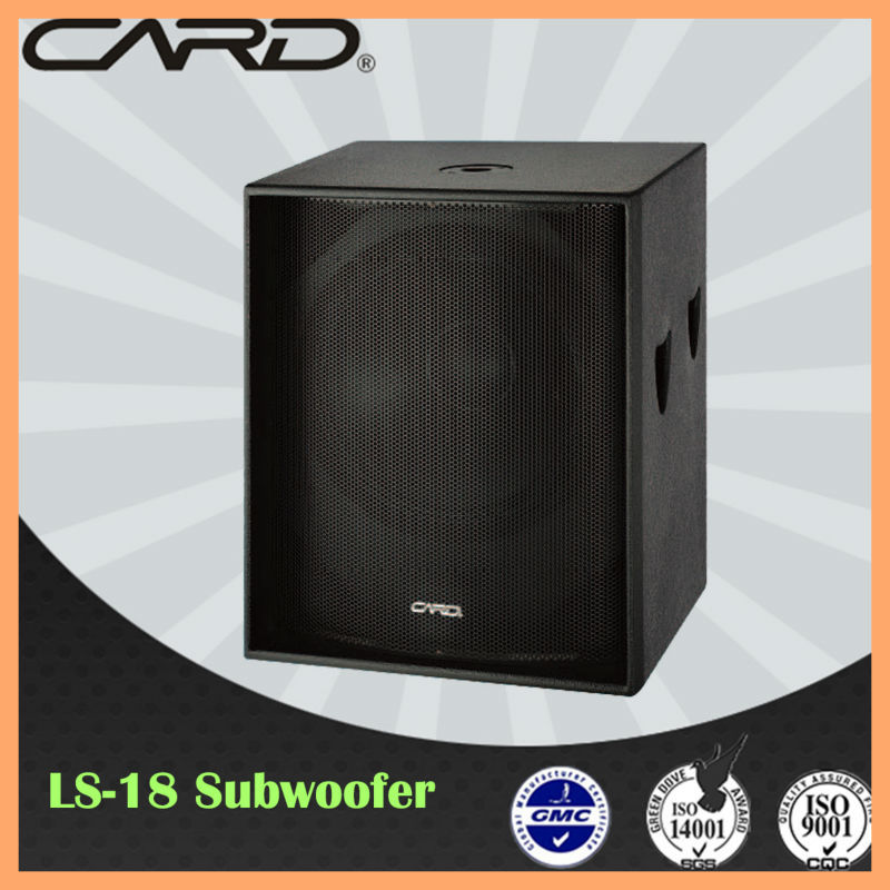 China speaker supplier dual 18'' speaker box 600watt subwoofer home cinema