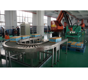 Palletizing production line automatic palletizing robot automated production equipment