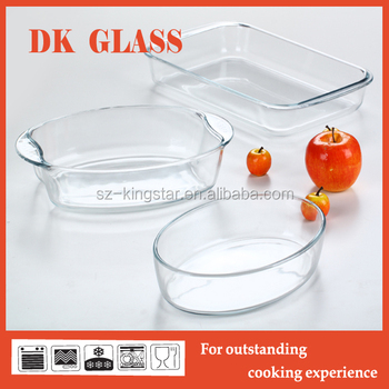 Oval Gl Bakeware With Handle Kitchenware Baking Tray Microwave Oven Safe Borosilicate Cookerware