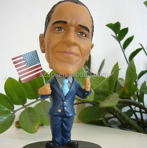 custom made Obama figure, OEM plastic Obama pvc doll, make your own famous people figurine