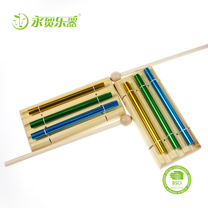 wholesale delicate chimes Orff hits 3-tone wind chimes Elm solid pedestal aluminum tube Seiko production Children's toys