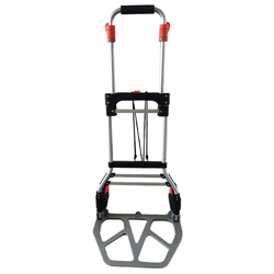 Multifunction two wheels hand tools aluminium folding cart lightweight aluminium hand trolley cart with carry bag and basket