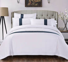 High quality luxury 60S hotel 100% cotton comfortable 4 pieces sateen hotel bedding set