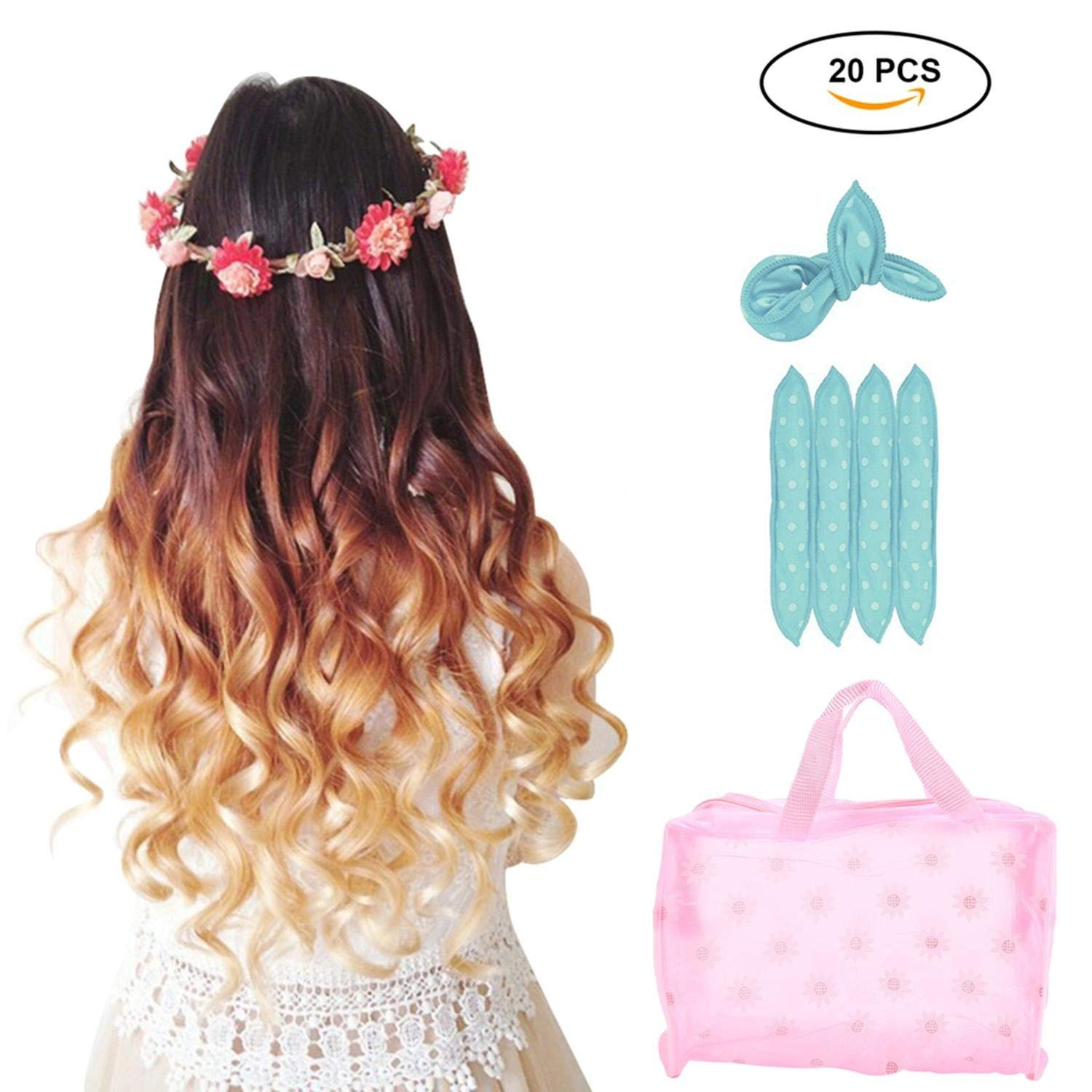 Pered For Pennies Overnight Dollar Curls Get Huge Naturally Curly Looking Hair With Almost No Heat All Sponge Curlers From The