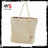 Wholesale custom printed canvas tote bag shopping bag with zipper