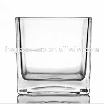 Wholesale China Suppliers Machine Made Cheap Square Glass Vase