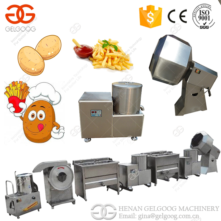 French Fries Production Line Fried Potato Chips/ Stick Machine Baked Potato Chips Machine Price