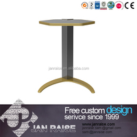 Round top side table glass living room end table
