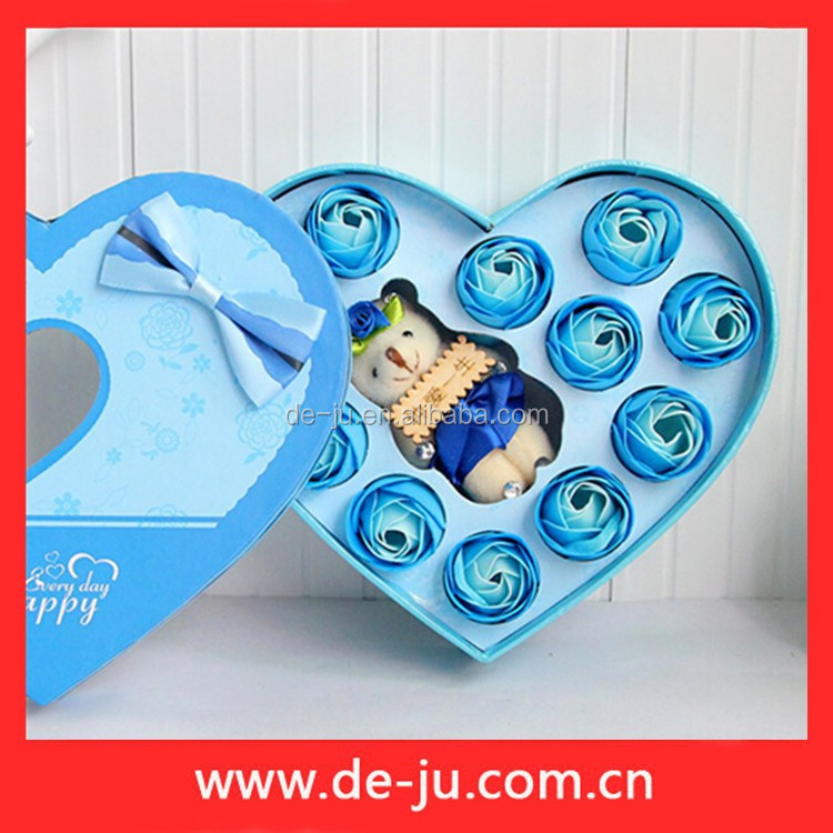 Heart Shape Box Soap Flowers Indian Wedding Gifts For Guests